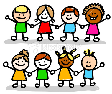 Istockphoto9778993 happy children friends girls boys group holding